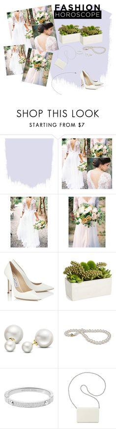 """Fashion-Wedding dress"" by irma-salkic ❤ liked on Polyvore featuring Jimmy Choo, Sage & Co., Allurez, Michael Kors and Nine West"