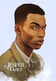 """cryingmanlytears: """" Jesper Fahey   Six of Crows Matthias   Nina   Inej   Kaz Had to take a little break after Kaz and Inej. Here's Jes, the only one that doesn't look like he's judging you. Or maybe..."""