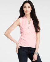 Cotton Sleeveless Wrap Front Shirt
