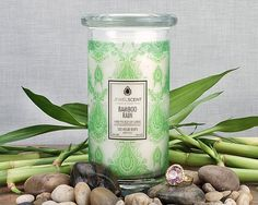 ***Bamboo Rain Classic Candle***  Enjoy the fresh fragrance of a watery, floral intertwined with a modern clean bamboo heart and a smooth, musky hyacinth background.  Each Classic Candle contains 16oz of wax in a 20oz glass. These candles contain one mystery ring valued at $10 to $7,500