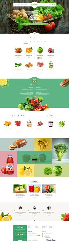 FreshMart - Organic Food PSD Template #organic food #shop #shopping • Download ➝ https://themeforest.net/item/freshmart-organic-food-psd-template/20095556?ref=pxcr
