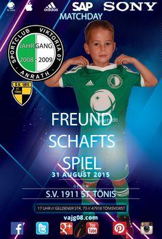 Wir spielen am Montag, den 31. August um 17 Uhr in St. Tönis ein Freundschaftsspiel. Mehr unter vajg08.com