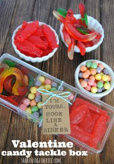 A great homemade gift for him - especially if he likes fishing and sweets! A great gift for valentines, birthday or a special occasion.  See how to make it.  Order the sweets online.