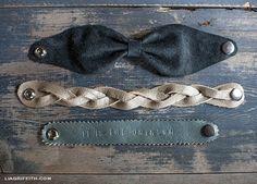 Bracelets en cuire/détail or