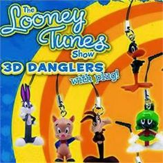 Looney Tunes 3D Danglers With Plug 2 inch capsules
