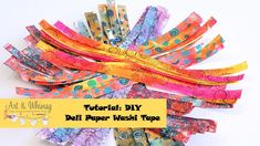 Tutorial: Create Your Own Gelli Deli Paper Washi Tape - 5 minute video tutorial!!