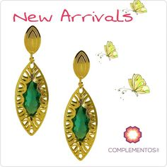 Aretes en golfilled 18k siempre una buena opción   Contactanos : 809 853 3250 / 809 405 5555 Aceptamos pagos con  a través de Paypal Delivery  Envoltura disponible   #newarrivals #available #goldfilled #green #earrings #glam #chic #accesories #byou #becomplete