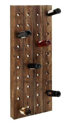 8 Creative Ideas for Making your Own DIY Wine Rack | Decor Snob Unique Wine Racks, Wood Wine Racks, Wine Rack Wall, Wine Rack Inspiration, Wine Rack Design, Hanging Wine Rack, Homemade Wine, Wood Planks, Bar