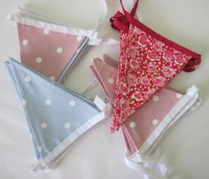Handmade Fabric Bunting by Daisychain Quilter.  www.esty.com/uk/shop/DaisychainQuilter