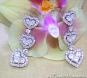 Feinste Diamanten / Brillanten Ohrgehänge im Herz-Design image