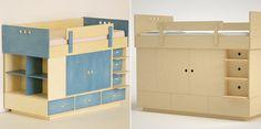 Cama com estantes para quartos pequenos