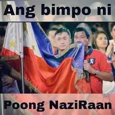 Ang #Bimpo ni #PoongNaziRaaan. Bow.  Tandang-tanda ko pa 'yong mga batang estudyante sa UE na umani ng batikos mula sa netizens after using the ALL HAIL PHILIPPINE FLAG as an improvised mop to clean their room. Not that I'm consenting the kids but they are kids who need guidance.  But are we just gonna ignore the fact that HIS EXCELLENCY HONORABLE PRESIDENT OF THE REPUBLIC OF THE PHILIPPINES is using the ALL HAIL PHILIPPINE FLAG like a towel or handkerchief to wipe his #filthy mouth?…