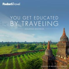 Go broaden your horizons. You get educated by traveling. Outdoorsy Quotes, Couple Travel, Wanderlust Quotes, Best Travel Quotes, Travel Words, Get Educated, Camping Life, Vacation Spots, Travel Guide