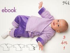 Baby Jacket, 3 Variants Sewing Pattern