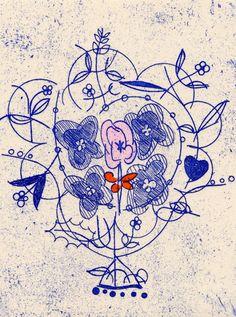 PRINT SHOW2013 artist:No.25 鶴巻貴子 TSURUMAKI Takako  「Etoiles エトワール」  12.0×9.0cm /銅版画(ソフトグランドエッチング・手彩色)