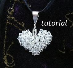 Jewelry Tutorials Pendant How to make a Crystal Puffy Heart Beaded Pendant. Beaded Jewelry, Handmade Jewelry, Heart Jewelry, Women's Jewelry, Jewlery, Fashion Jewelry, Bijoux Diy, Beads And Wire, Jewelry Patterns