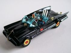 Corgi Batmobile. My friend had one of these and would never EVER let me play with it. I felt a certain sense of justice when it was thrown on a trash pile and burned some time later.