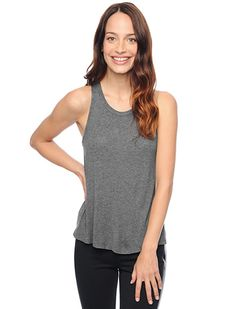 Splendid Official Store, Drapey Lux Tank, steel, Womens : Tops : Tanks, ST527681