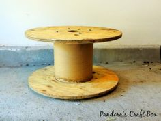 Repurposed Wooden Cable Spool