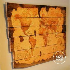 Wooden Pallet Map Tutorial