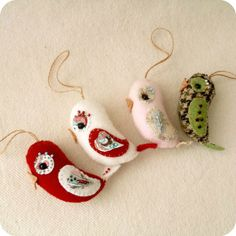 Love Bird Ornament pdf Pattern  Instant Download by Gingermelon