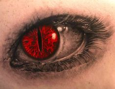 Red Eye Tattoo Design
