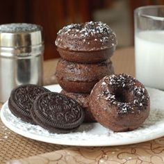 Mini Chocolate Oreo Donuts recipe