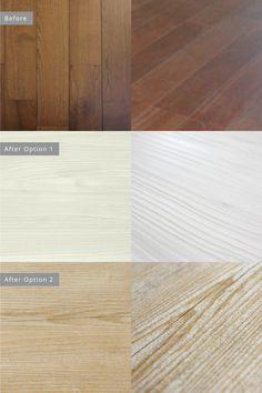 Floor  Option 1:  デカルコ6141 マッシロ  Option 2: デカルコ1927 アンティーク