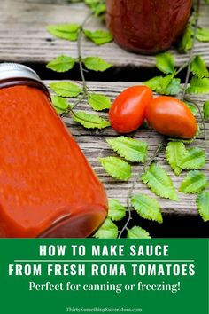 This recipes shows you how to make sauce from Roma tomatoes. Learn how to make this easy homemade tomato sauce using fresh tomatoes or canned.
