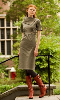 Women's retro, modest dresses