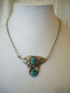 Vintage+NAVAJO+Sterling+Silver+&+Turquoise+by+TurquoiseKachina,+$189.00