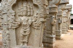 Carved pillars in Lepakshi Temple, Andhra Pardesh, India