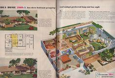 Home Plan 2909-A | via TIKITACKY