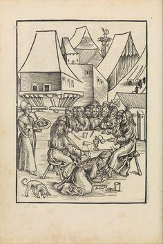 """""""Der text des Passions oder leydens christi auß den vier evangelisten zusammen in ein Sinn bracht mit schönen figuren"""" Editor: Edited by Johann Ringmann Printer: Printed by Johann Knobloch the Elder (1500–1528) Artist: Urs Graf (Swiss, Solothurn ca. 1485–1529/30 Basel) Artist: Attributed to Hans Wechtlin (German, Strasbourg ca. 1480/85–after 1526) Date: 1507 Medium: Woodcuts Dimensions: Overall: 11 5/16 x 8 3/8 x 3/8 in. (28.8 x 21.3 x 1 cm) Classification: Books"""