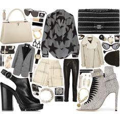 A fashion look from October 2014 featuring Vivienne Westwood Anglomania blouses, Burberry jackets and Yves Saint Laurent blazers. Browse and shop related looks.