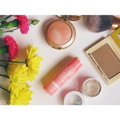 Milani blush in Luminoso // The Balm Bahama Mama bronzer // ColourPop eyeshadow Fringe. From instagram.com/omgyaymakeup