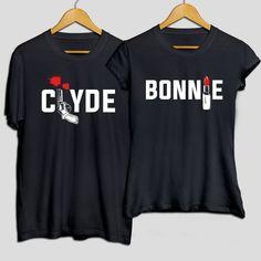 Bonnie & Clyde couple matching t-shirts, t-shirt set, pärchen t-shirts, couple shirts, matching couple shirts, girlfriend gift