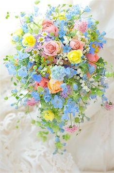 Pastel Flowers, Bridal Flowers, Fresh Flowers, Beautiful Flowers, Pastel Bouquet, Bride Bouquets, Floral Bouquets, Beautiful Flower Arrangements, Floral Arrangements
