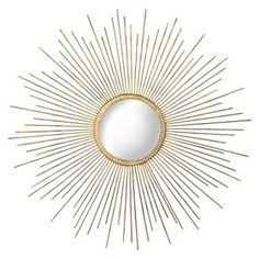 Metal Sunburst Mirror - Aged Gold : Target Mobile