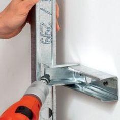 Panneau Mural Tv, Gypsum Board Design, Metal Stud Framing, Bathroom Layout Plans, Tiling Tools, Metal Bending Tools, Drywall Installation, Steel Frame House, Minimalist Home