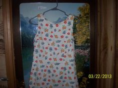 Sun Dress Girls School Clothing White Floral by NAESBARGINBASEMENT, $14.00