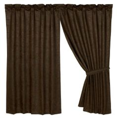 HiEnd Accents Tooled Leather Curtain by HiEnd Accents. $49.88. Impeccable Quality. Affordable Price. Immaculate Design. This curtain consists of a dark brown faux tooled leather. This versatile curtain is a great way to give a finished look to a room.