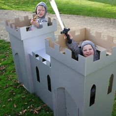 I need to make a castle like this with all the old cardboard boxes at work