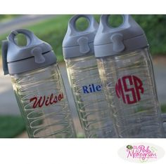 Personalized Water Bottle from Tervis Tumblers at The Pink Monogram