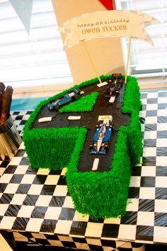Race Car Cake Learn how to create your own amazing cakes: www.mycakedecorating.co.za #cake #baking