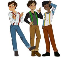 Cute fanart of the male Jesse's from Minecraft Story Mode!