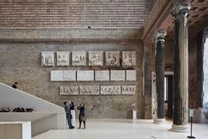 The Neues Museum in Berlin was resurrected over an 11-year period. The architects' approach was to contrast contemporary repairs with restored original features, making for a dynamic mix of old and new. #dwell #moderndesign #modernarchitecture