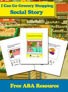 Teach your child the expectations of grocery shopping with this easy to read visual book. The social story, I Can Go Grocery Shopping, is a great book to help your child prepare for the basic sequence of grocery shopping. #Aba #Resources #Autism #LifeSkills #SpecialNeeds #ABAresources #AutismEducation #SocialStory