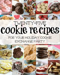25 Cookie Exchange Recipes via Remodelaholic.com #recipe #cookie_exchange #holidays #party