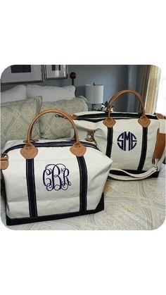 Monogrammed weekend bag by twc334 on Etsy, $95.00